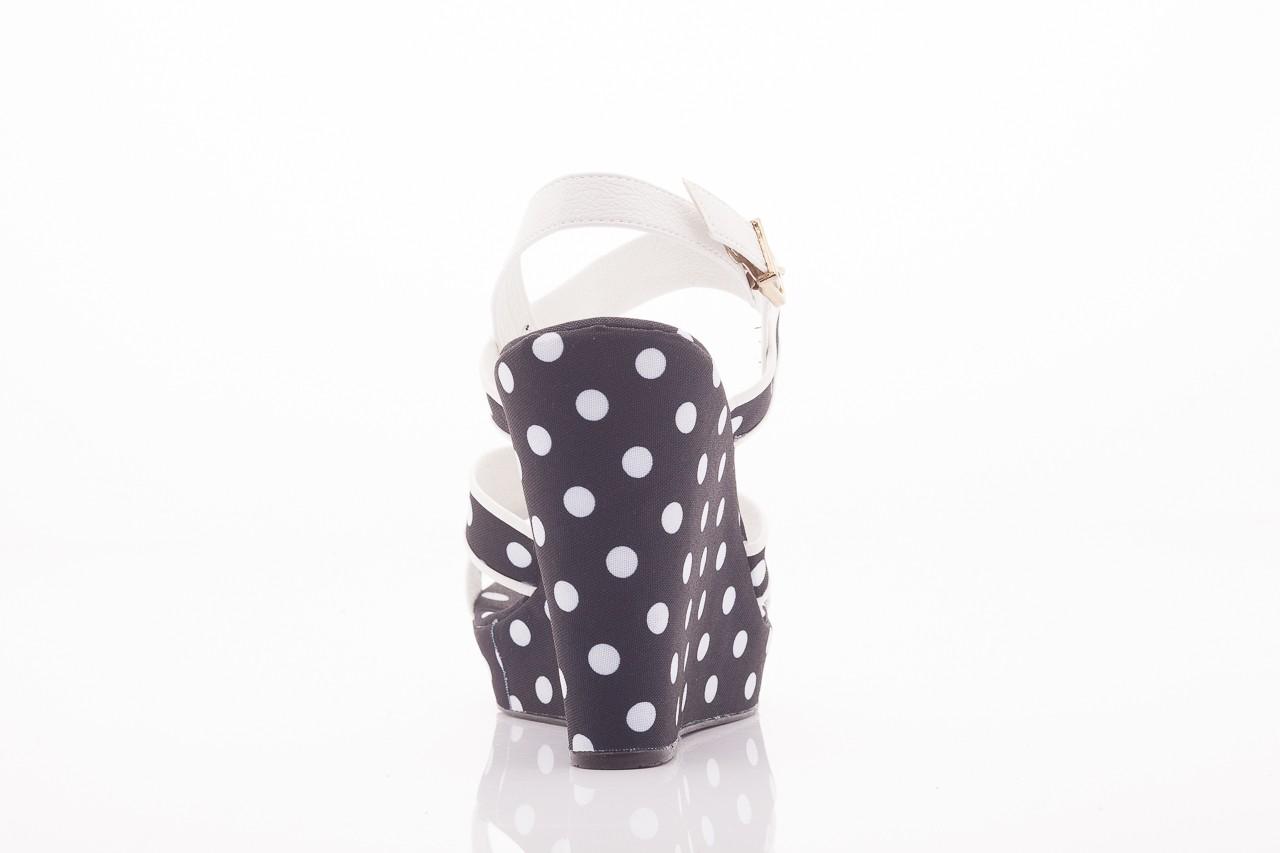 Sandały dijean 753 518 black poa-white, czarny, skóra ekologiczna/ materiał - na platformie - sandały - buty damskie - kobieta 8