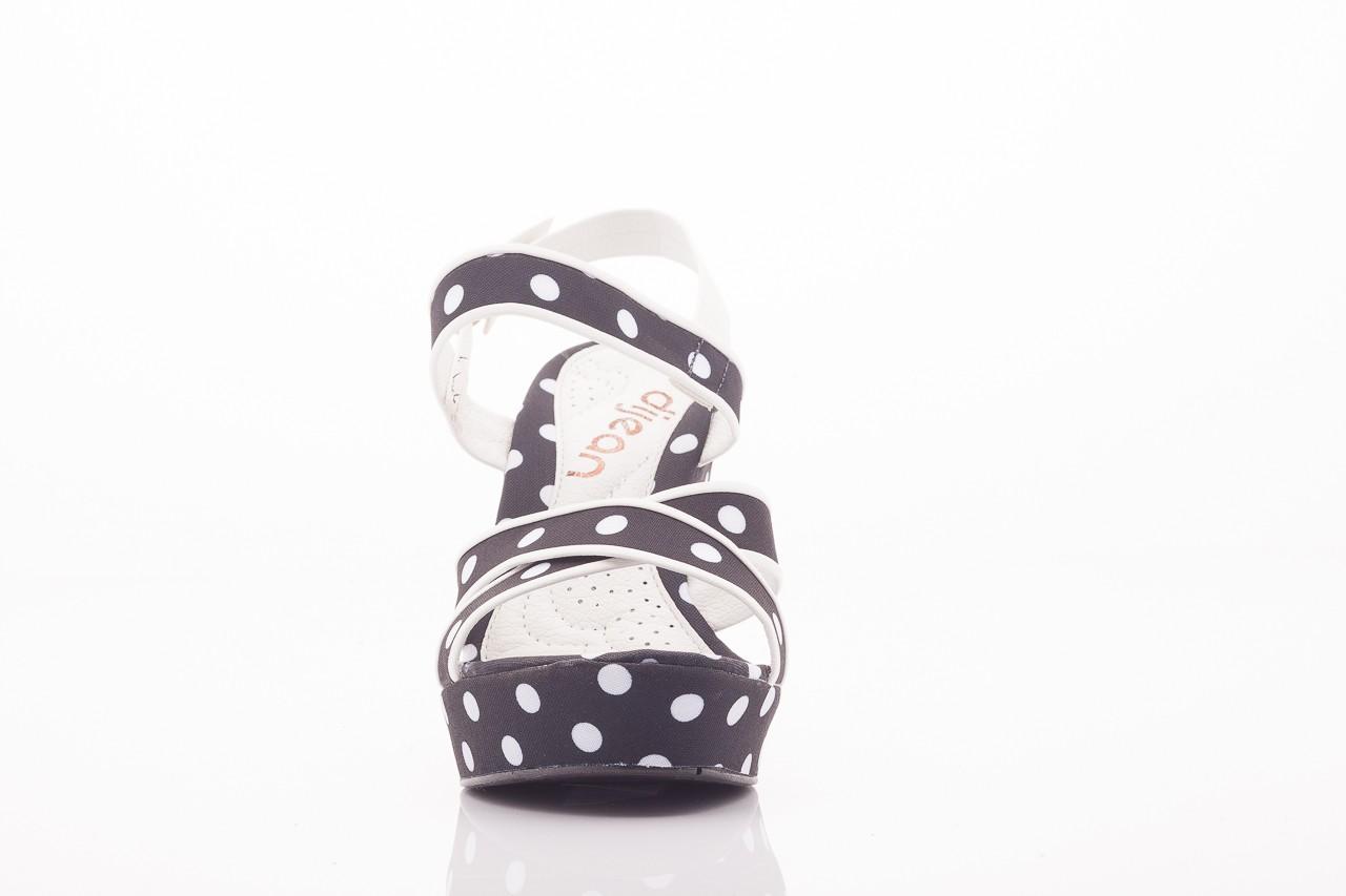Sandały dijean 753 518 black poa-white, czarny, skóra ekologiczna/ materiał - na platformie - sandały - buty damskie - kobieta 5