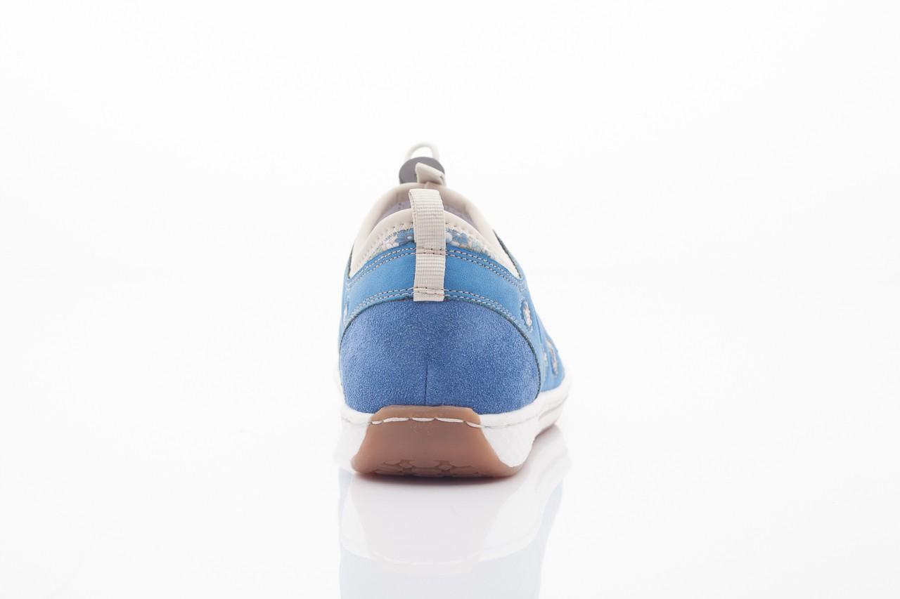Rieker l3075-14 blau kombi 8