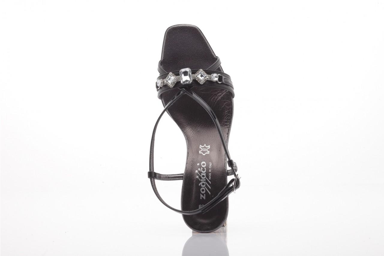 Sandały zodiaco a330s black pat, czarny, skóra naturalna lakierowana 7