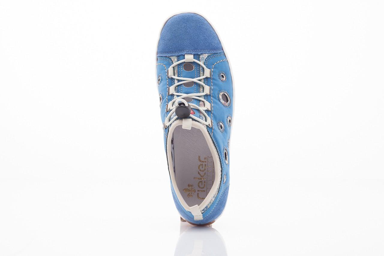 Rieker l3075-14 blau kombi 6