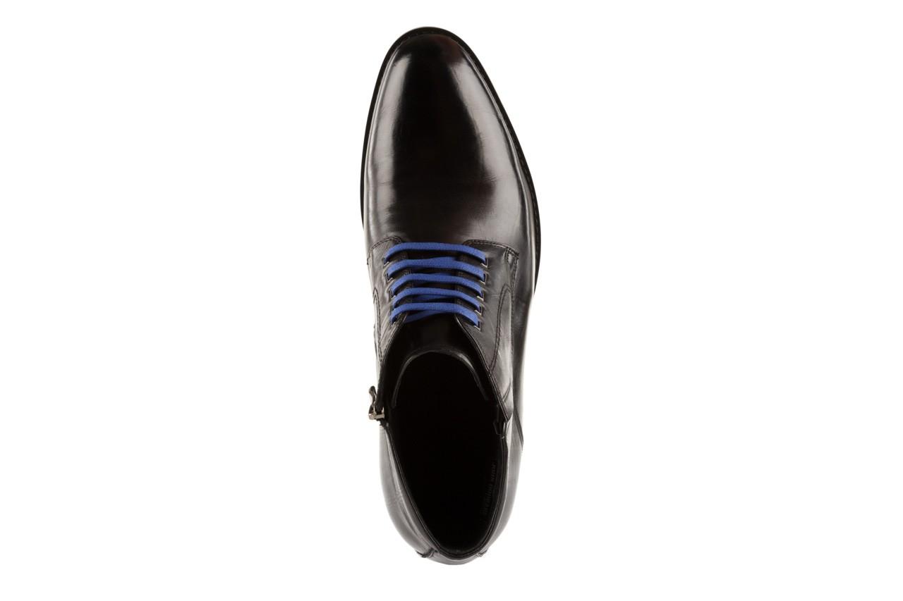 Trzewiki john doubare y1051-12-10 black, czarny, skóra naturalna - wizytowe - trzewiki - buty męskie - mężczyzna 10