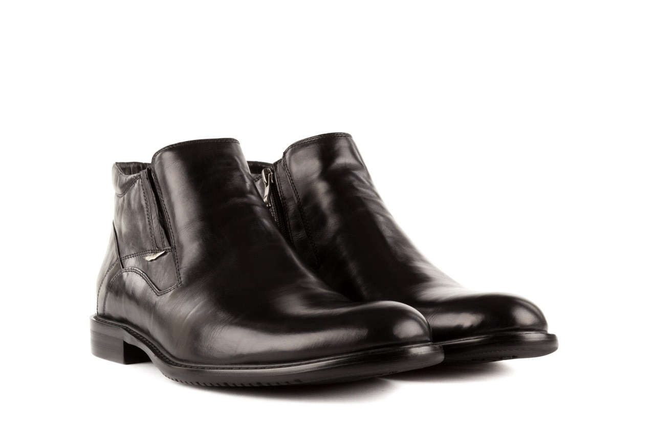 Trzewiki john doubare y2308-22-2 black, czarny, skóra naturalna - brooman - nasze marki 7