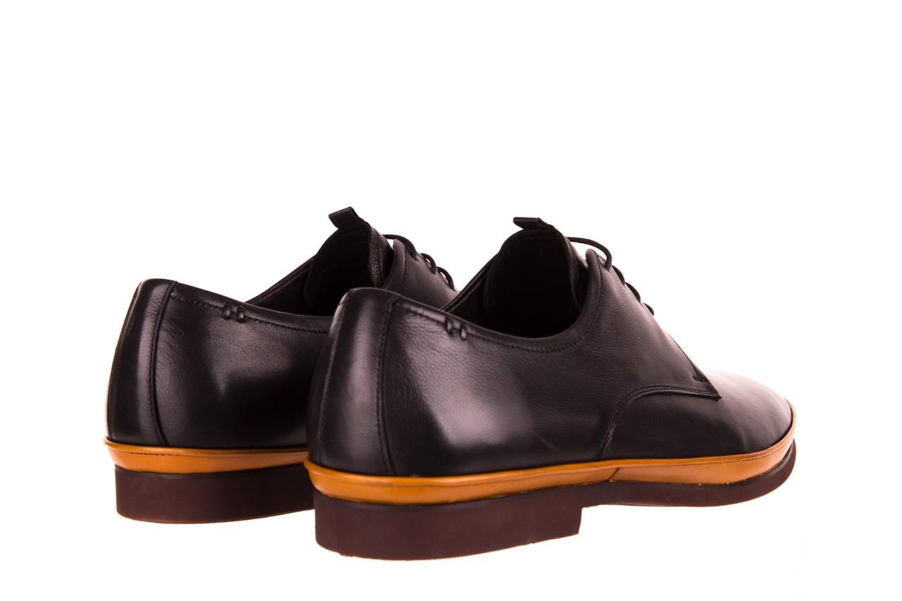 Półbuty john doubare d220-92-a01 black, czarny, skóra naturalna  - dla niego - sale 10