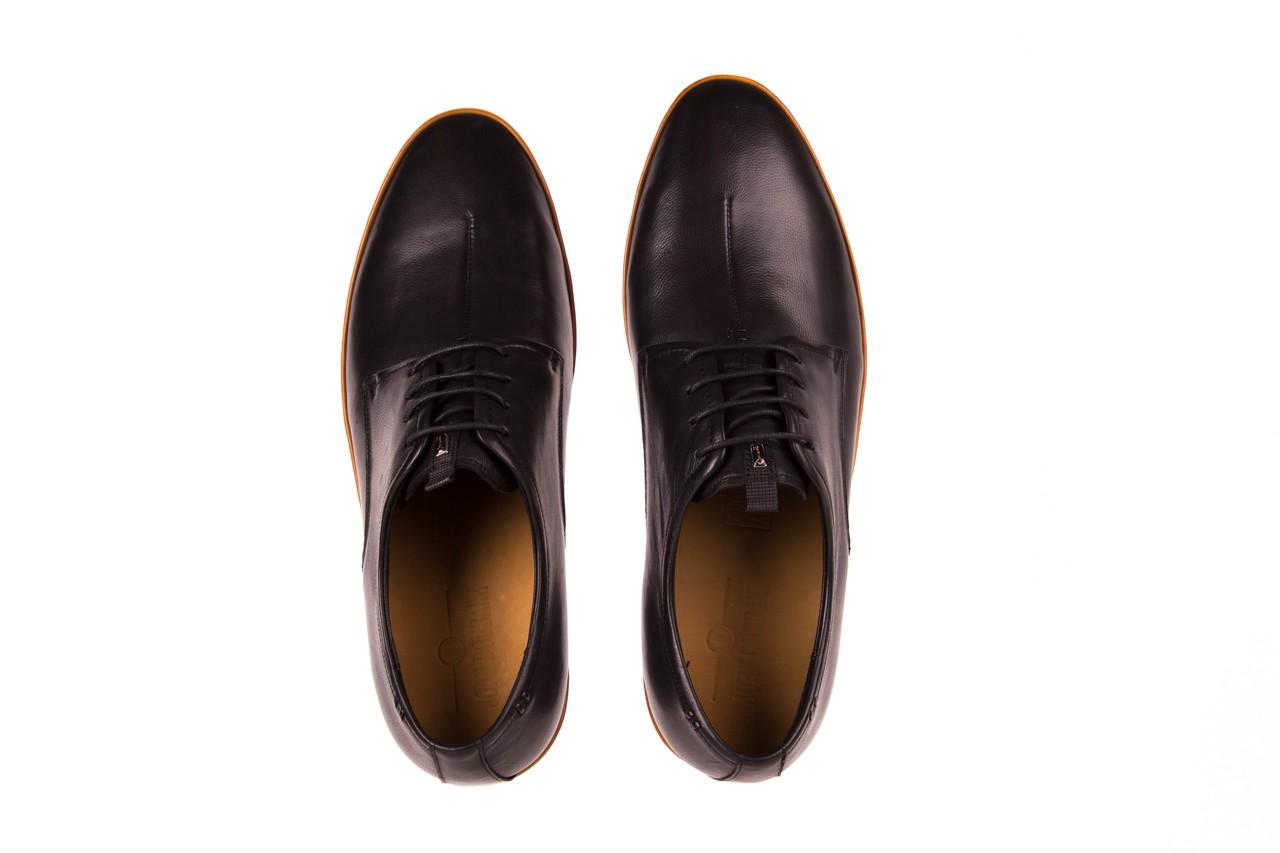 Półbuty john doubare d220-92-a01 black, czarny, skóra naturalna  - dla niego - sale 9