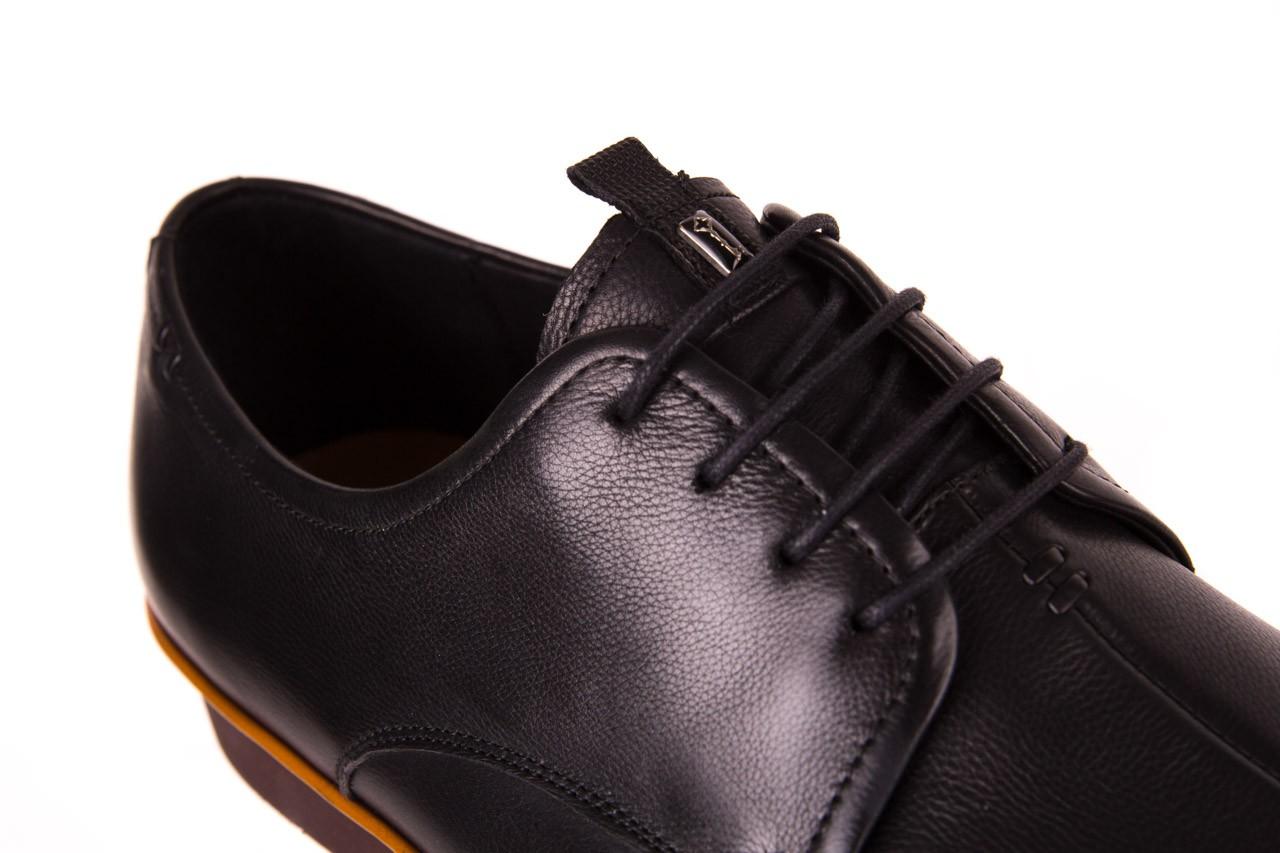 Półbuty john doubare d220-92-a01 black, czarny, skóra naturalna  - dla niego - sale 11
