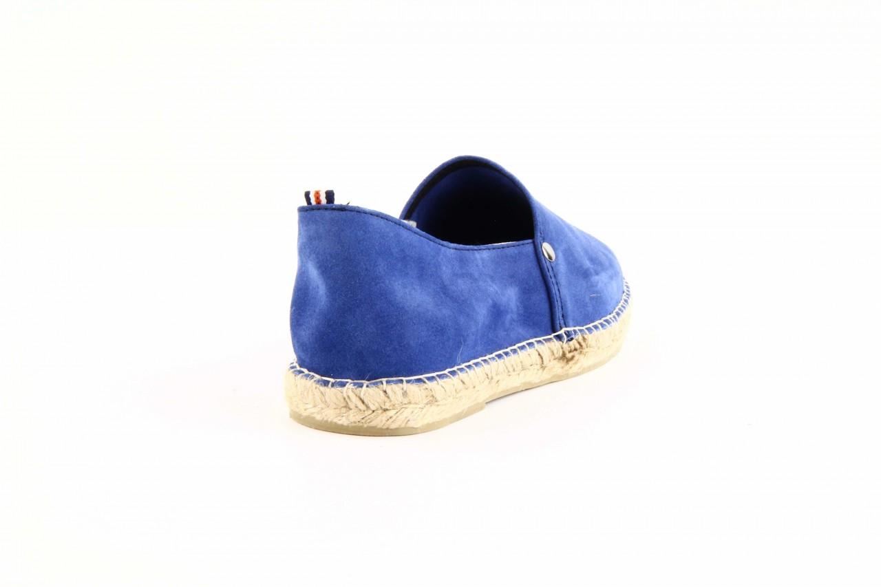 Mokasyny laro pepe 14l jeans, niebieski, skóra naturalna 6
