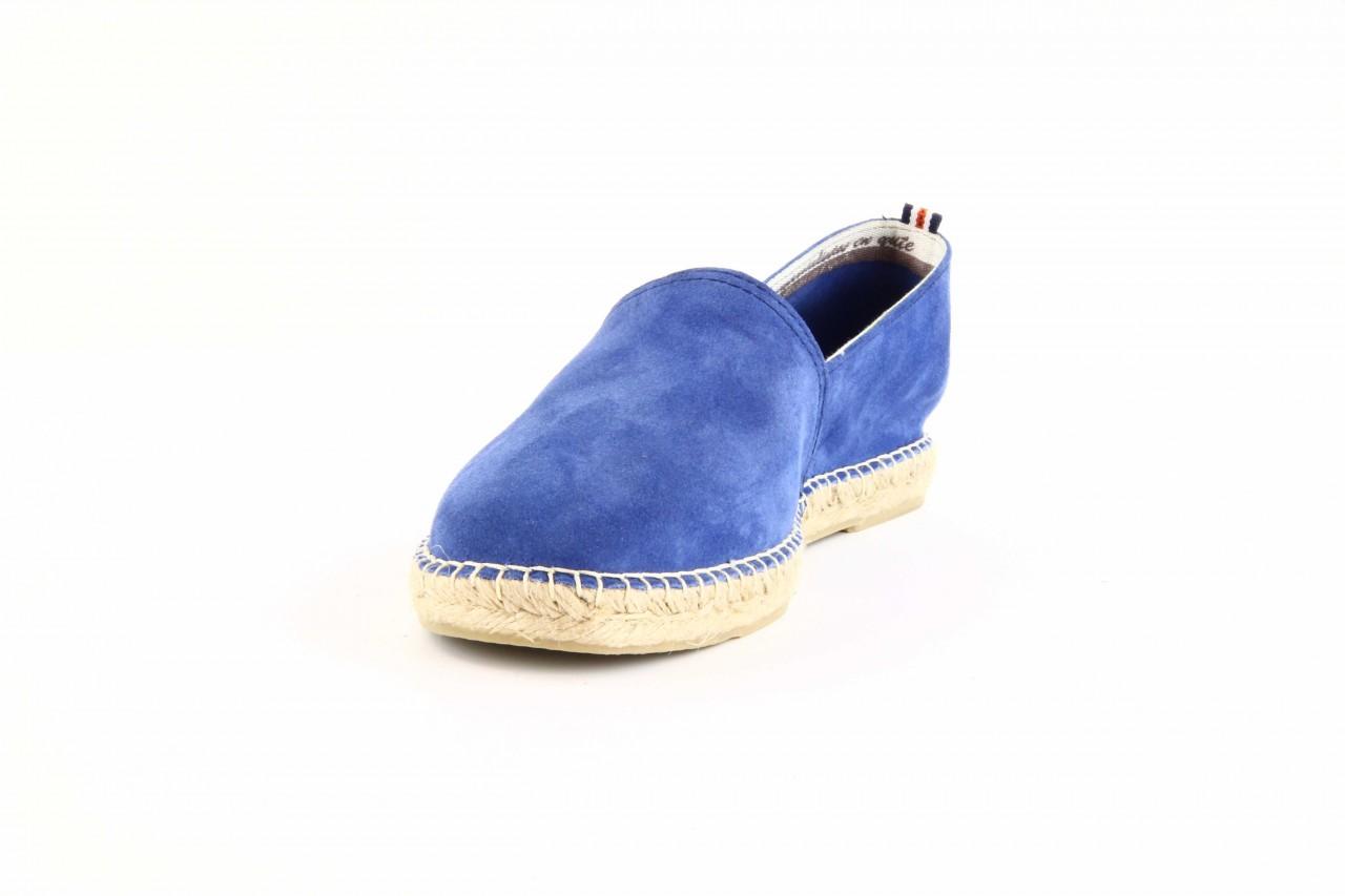 Mokasyny laro pepe 14l jeans, niebieski, skóra naturalna 8