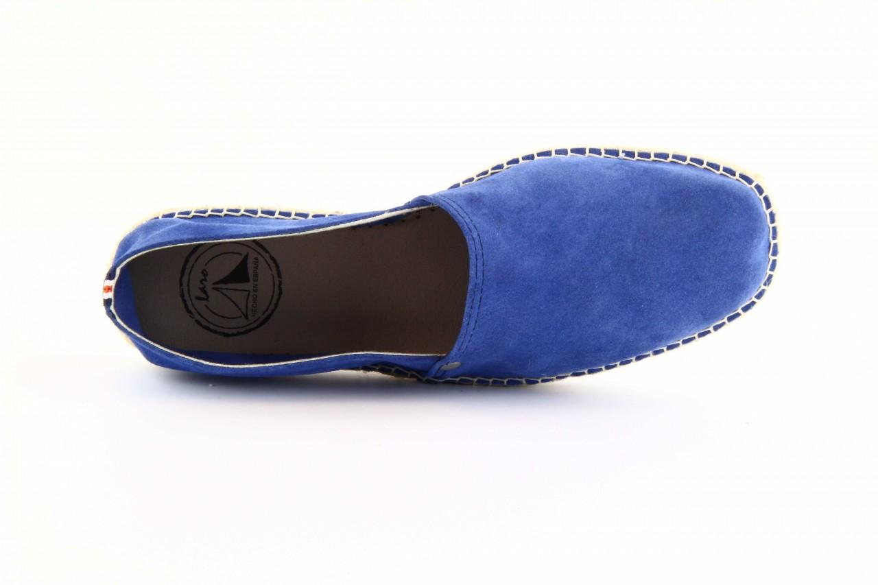 Mokasyny laro pepe 14l jeans, niebieski, skóra naturalna 7