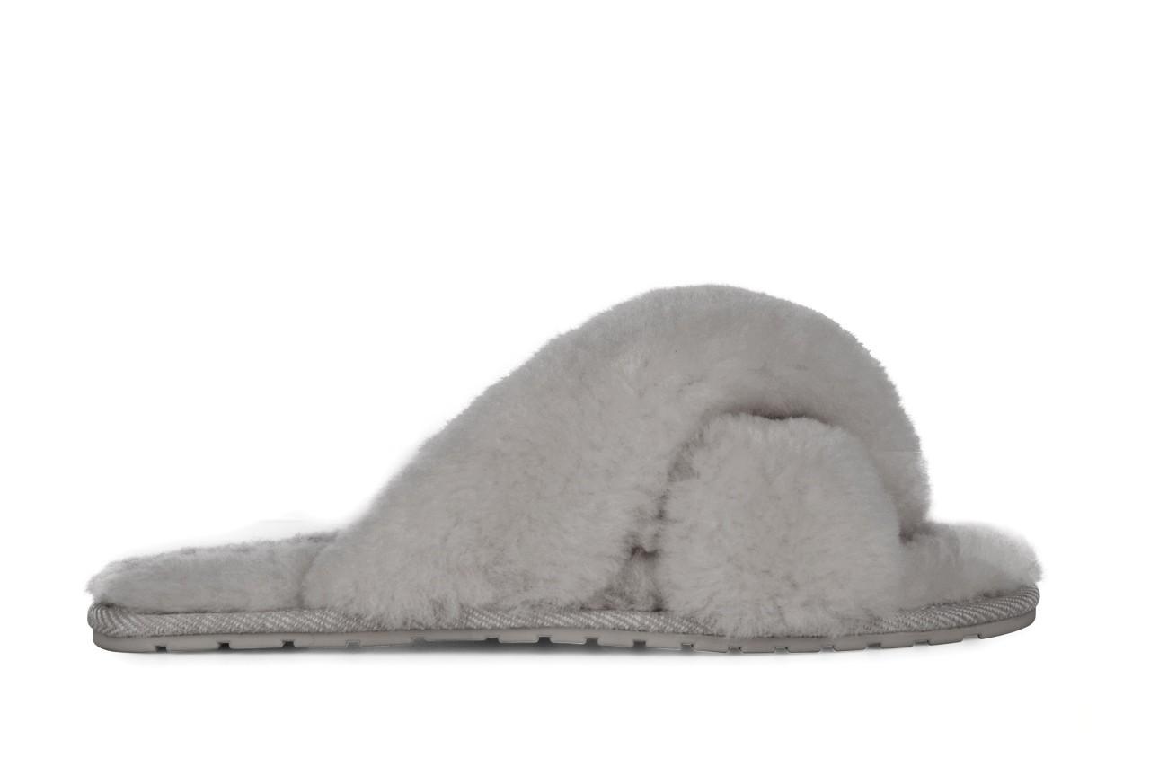 Klapki emu mayberry light grey, futro naturalne - emu - nasze marki 2