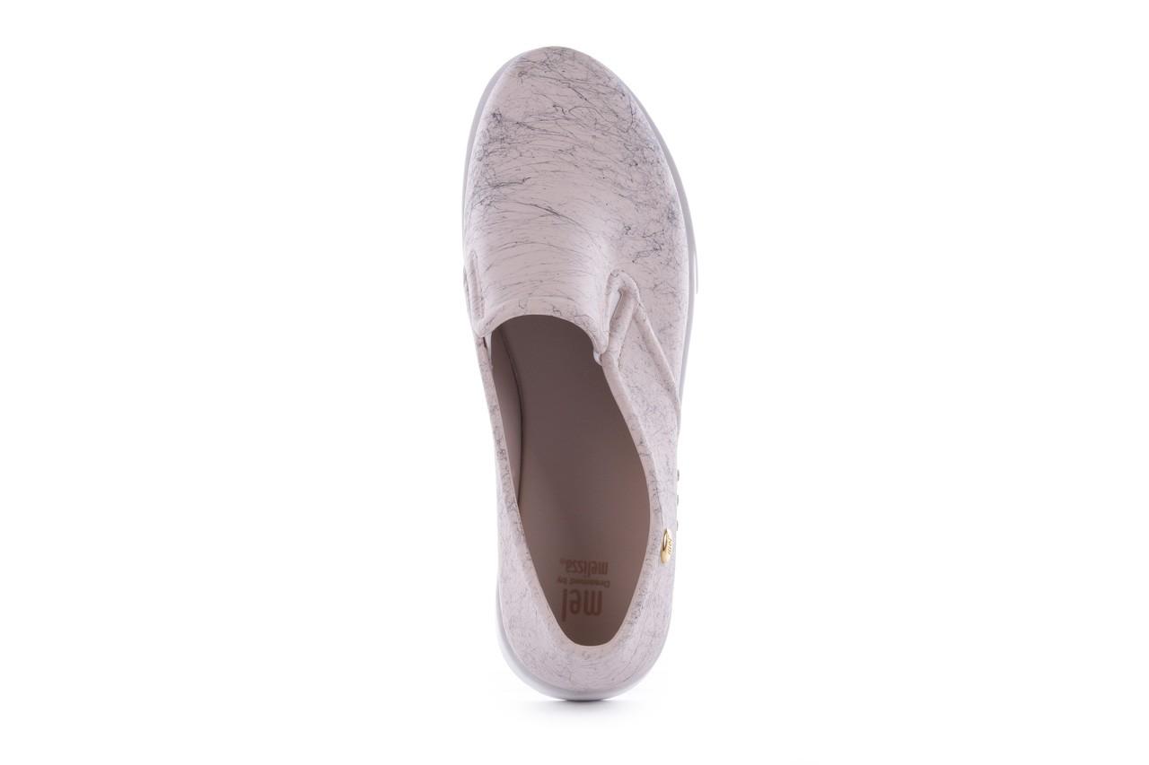 Trampki mel 32152 beige white, beż/biały, guma 10