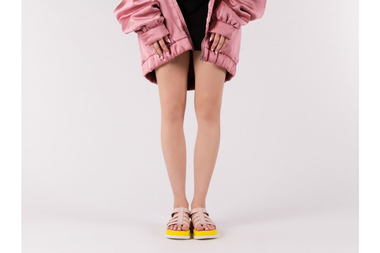 Sandały melissa flox iii ad pink-yellow, beż, guma - melissa - nasze marki 13