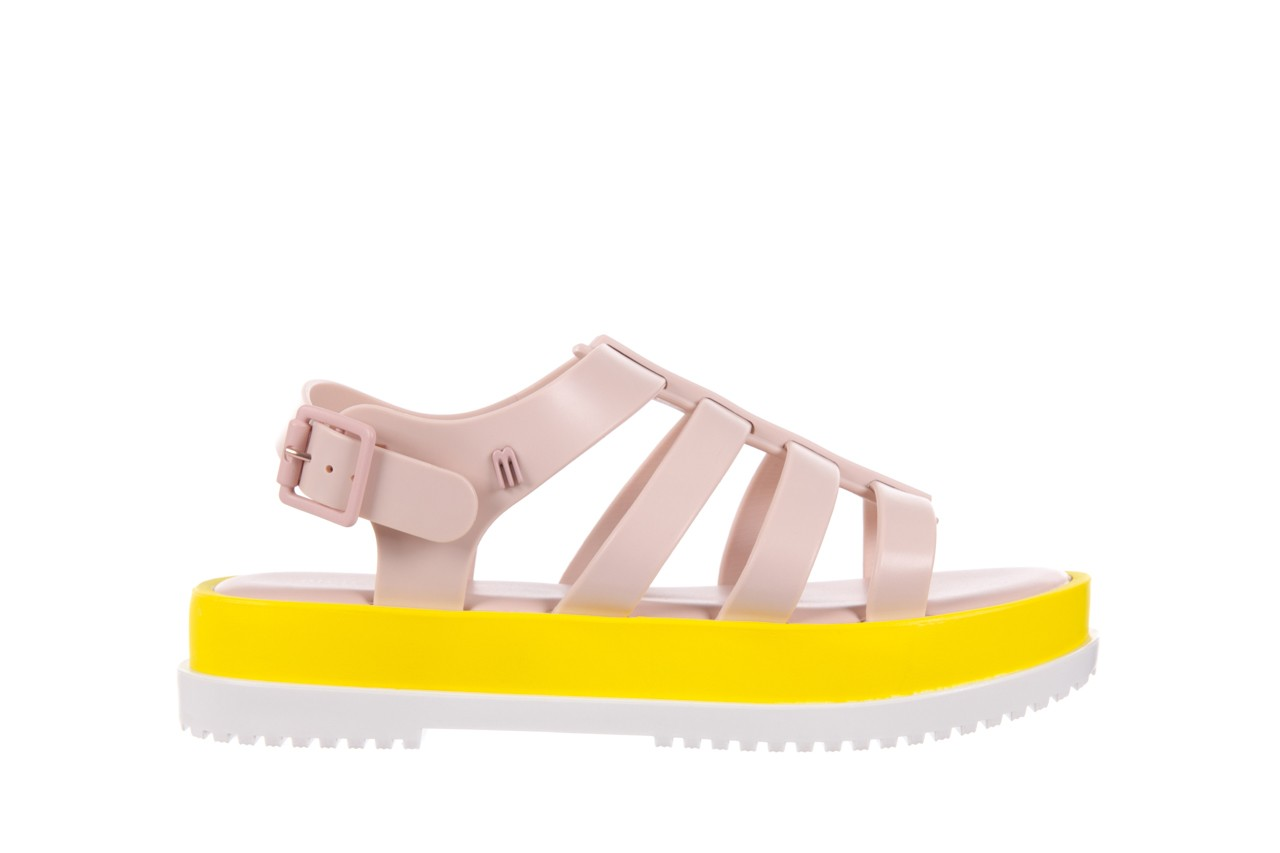 Sandały melissa flox iii ad pink-yellow, beż, guma - melissa - nasze marki 7