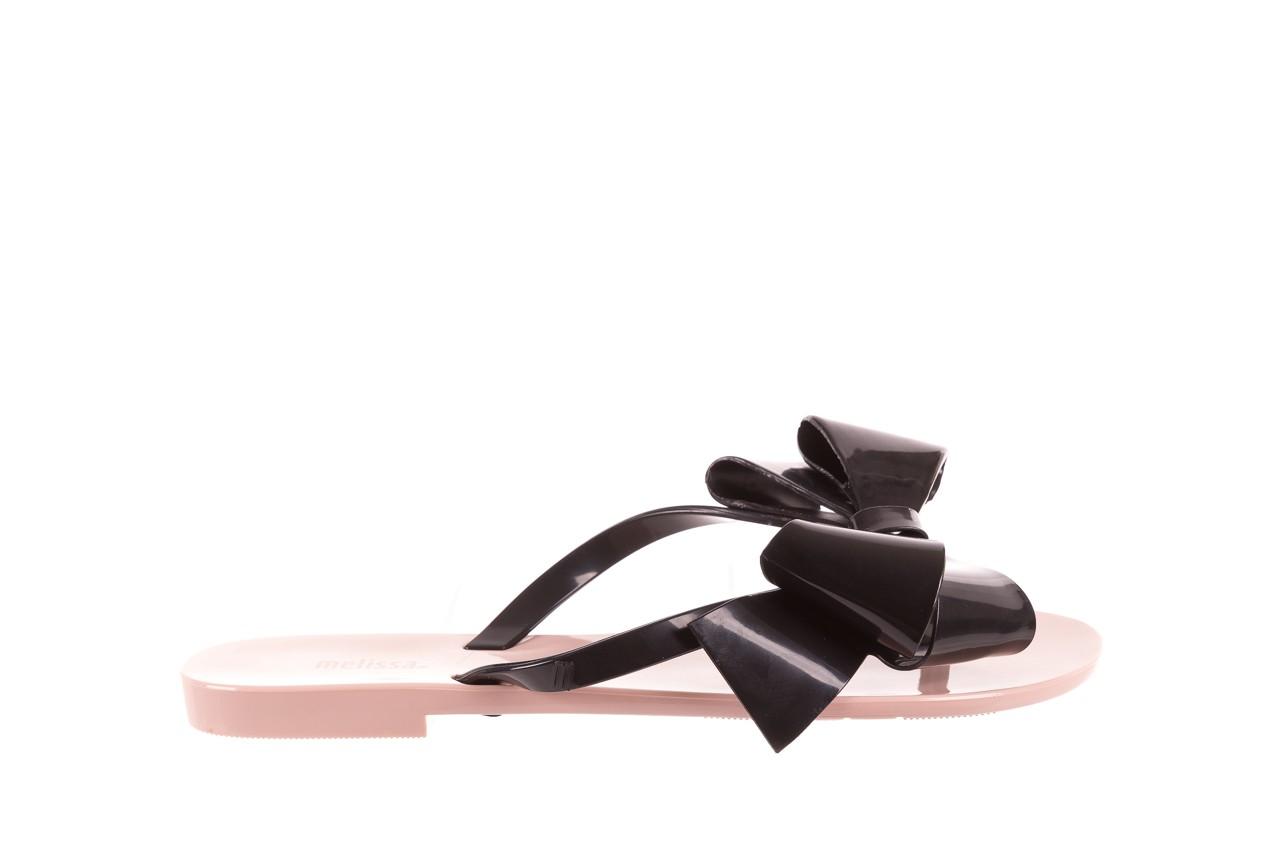 Klapki melissa harmonic bow iii ad pink black, róż/czarny, guma - melissa - nasze marki 6