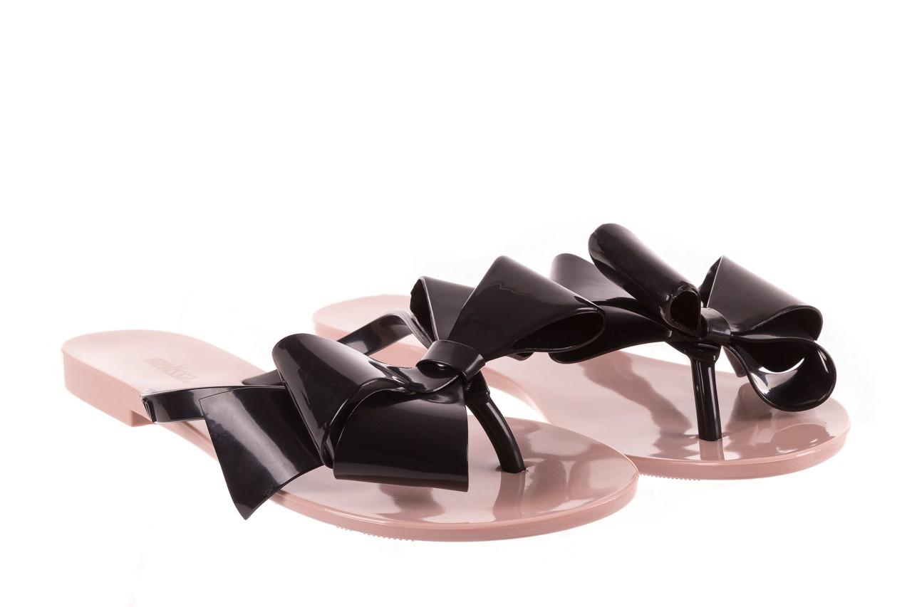 Klapki melissa harmonic bow iii ad pink black, róż/czarny, guma - melissa - nasze marki 7