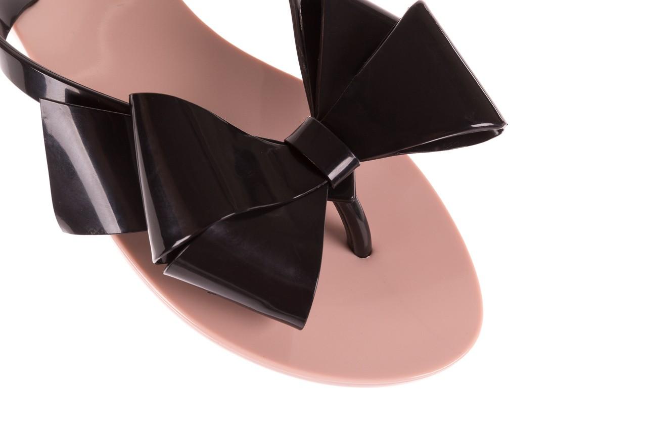 Klapki melissa harmonic bow iii ad pink black, róż/czarny, guma - melissa - nasze marki 11