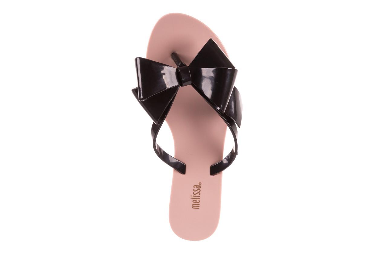 Klapki melissa harmonic bow iii ad pink black, róż/czarny, guma - melissa - nasze marki 10