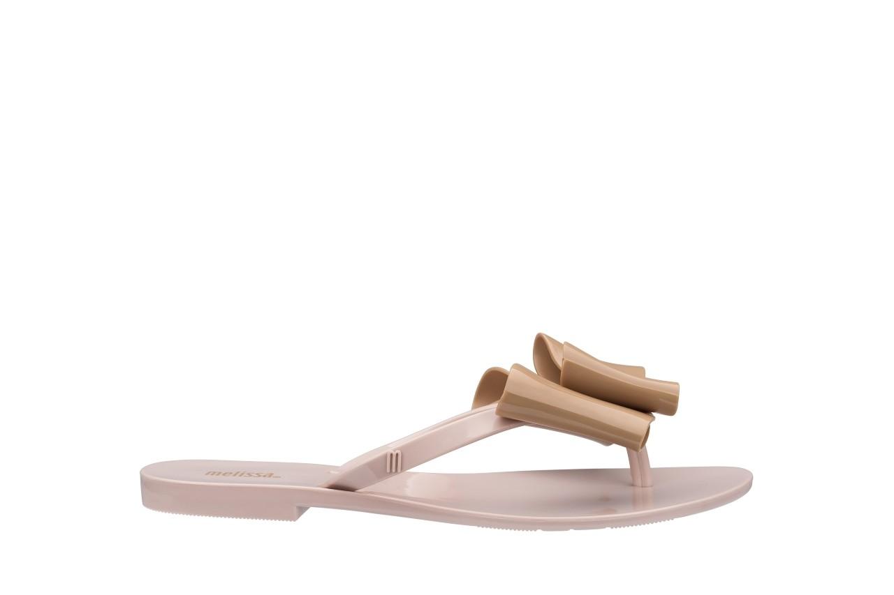 Klapki melissa harmonic bow iv ad pink beige, róż/beż, guma - japonki - klapki - buty damskie - kobieta 3