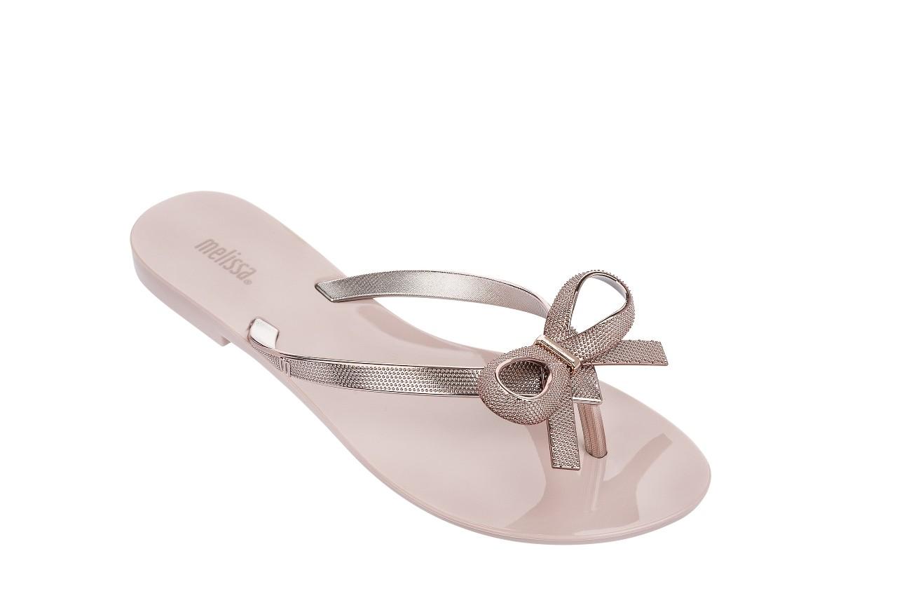Klapki melissa harmonic chrome ii ad pink metallic 010262, róż, guma - japonki - klapki - buty damskie - kobieta 4