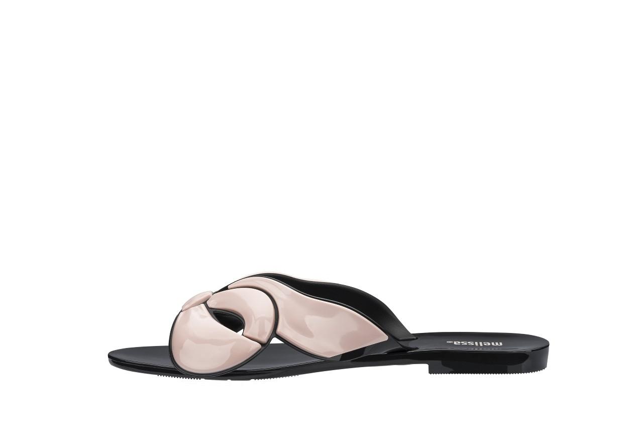 Klapki melissa harmonic maxi bow ad black pink, róż/czarny, guma - japonki - klapki - buty damskie - kobieta 5