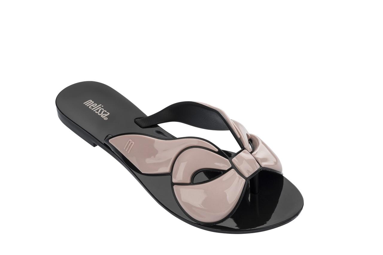 Klapki melissa harmonic maxi bow ad black pink, róż/czarny, guma - japonki - klapki - buty damskie - kobieta 4
