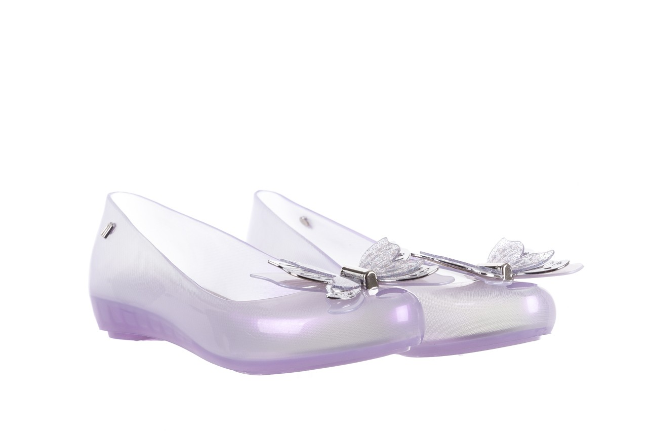 Baleriny melissa ultragirl fly ad pearly lilac, biały/fiolet, guma - melissa - nasze marki 8