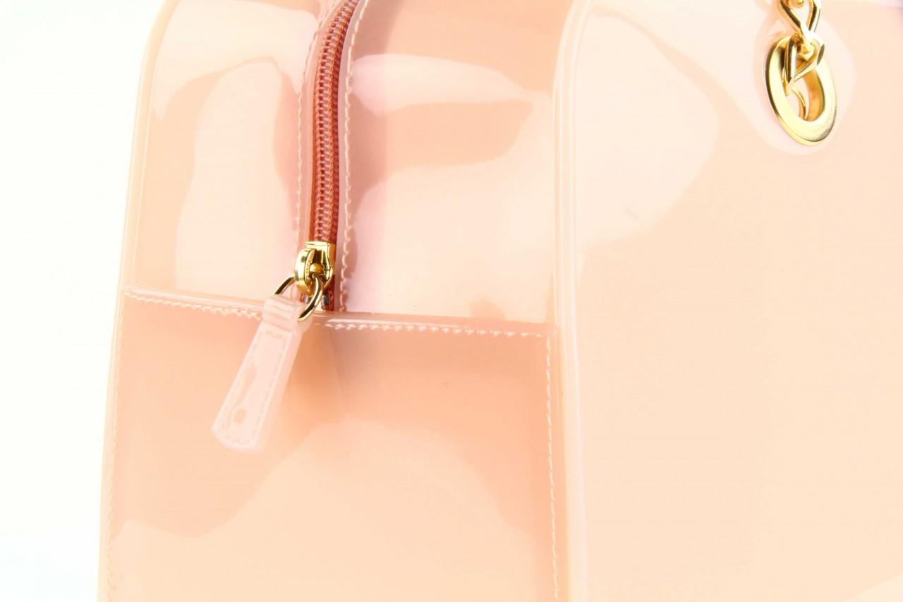 Torebka menghi 601 bauletto rosa gel, beż, tworzywo sztuczne 5