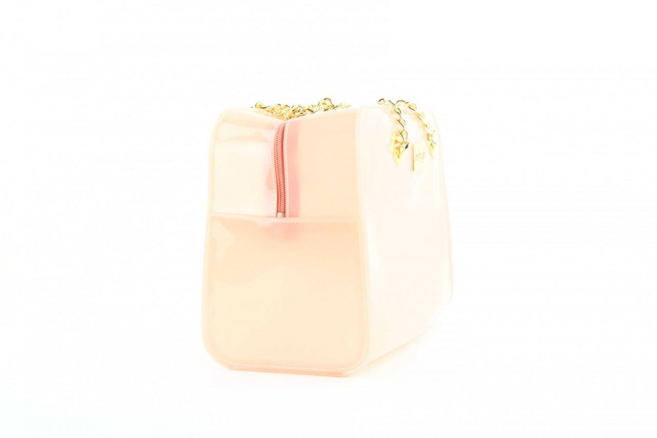 Torebka menghi 601 bauletto rosa gel, beż, tworzywo sztuczne 8
