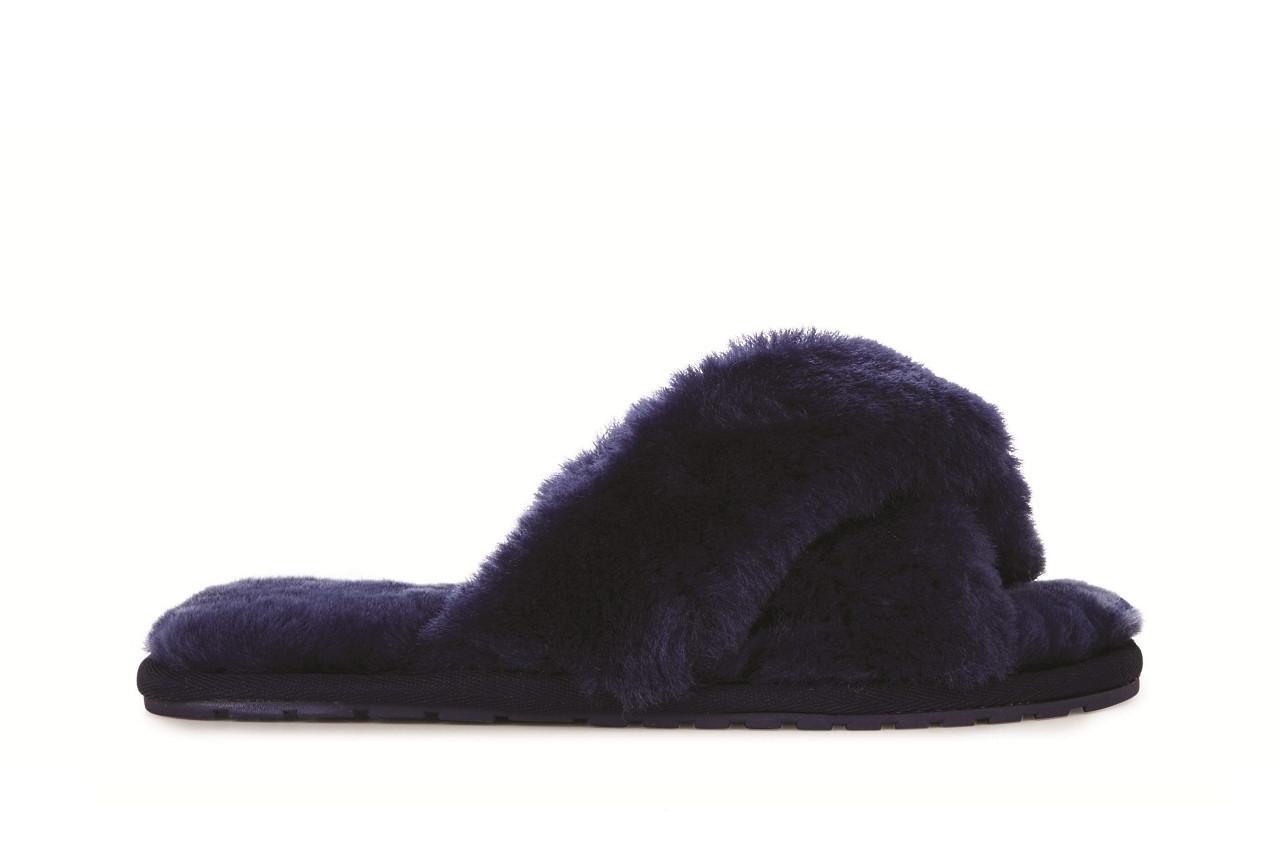 Klapki emu mayberry midnight 21 119130, granat, futro naturalne  - klapki - buty damskie - kobieta 2
