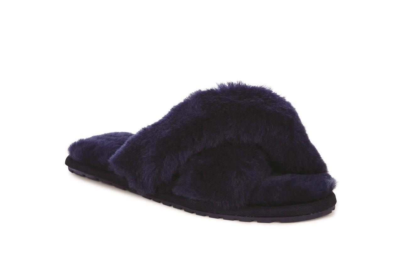 Klapki emu mayberry midnight, granat, futro naturalne - klapki - buty damskie - kobieta 3