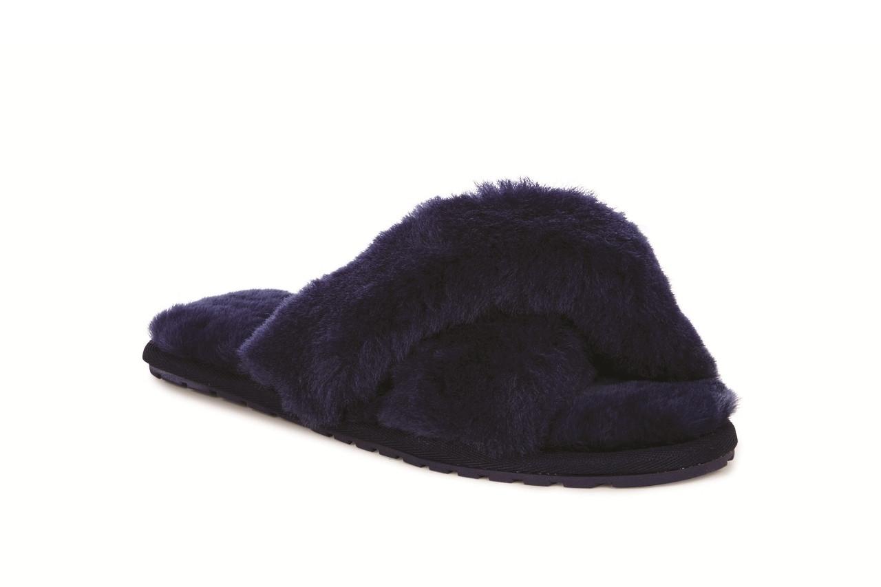 Klapki emu mayberry midnight 21 119130, granat, futro naturalne  - klapki - buty damskie - kobieta 3