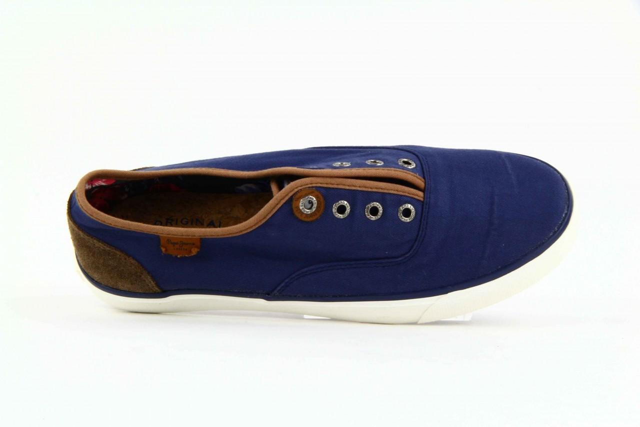 Trampki pepe jeans pms30009 571 blue, granat, materiał  - trampki - dla niego - sale 7