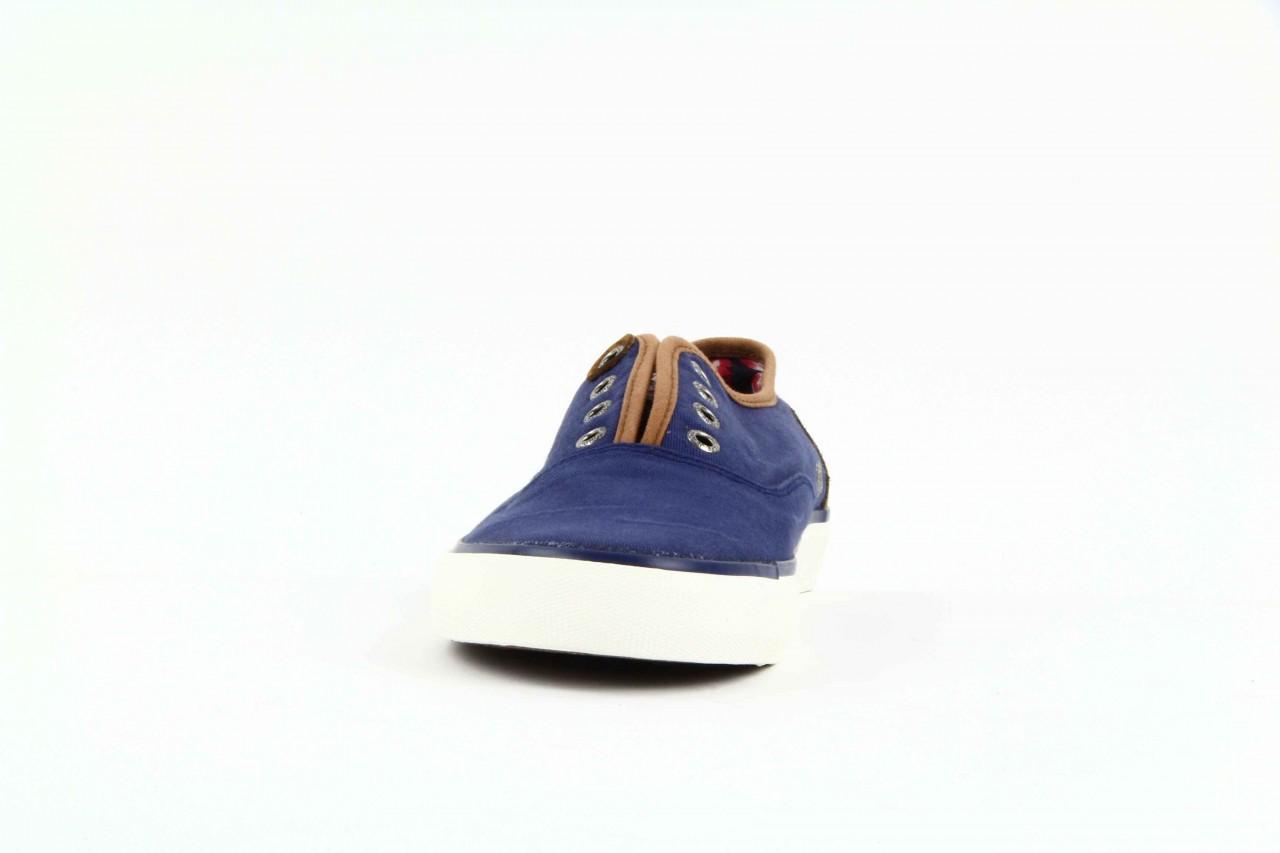 Trampki pepe jeans pms30009 571 blue, granat, materiał  - trampki - dla niego - sale 10