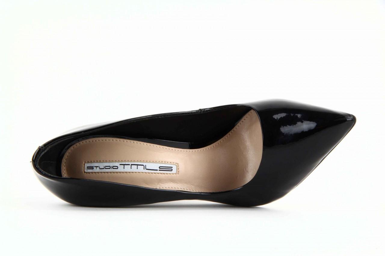 Czółenka studio tmls 22816 patent soft snake black, czarny, skóra naturalna lakierowana 11