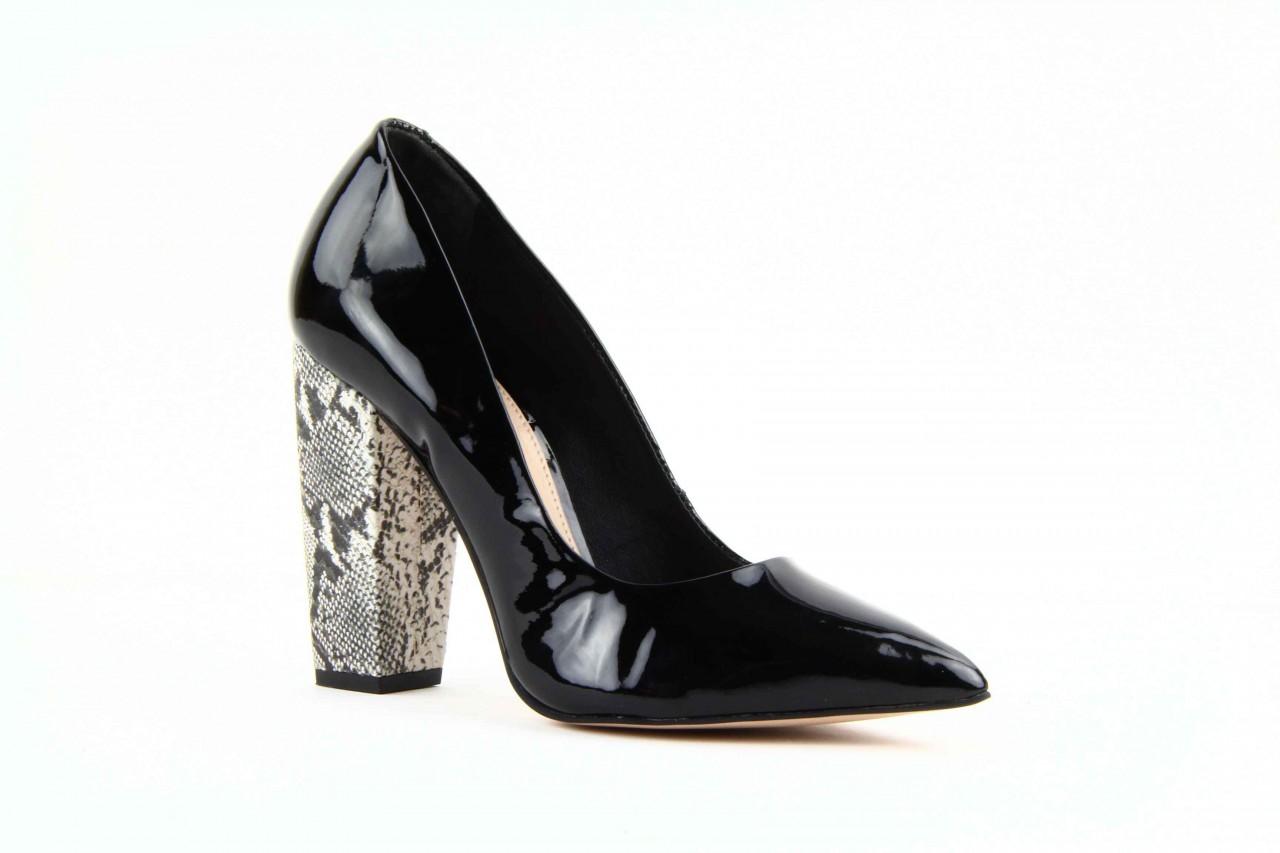 Czółenka studio tmls 22816 patent soft snake black, czarny, skóra naturalna lakierowana 8