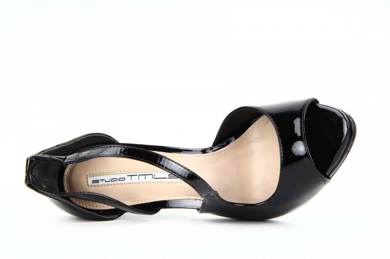 Sandały studio tmls 25156x patent soft black, czarny, skóra naturalna lakierowana 10
