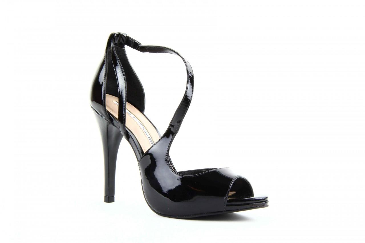Sandały studio tmls 25156x patent soft black, czarny, skóra naturalna lakierowana 9