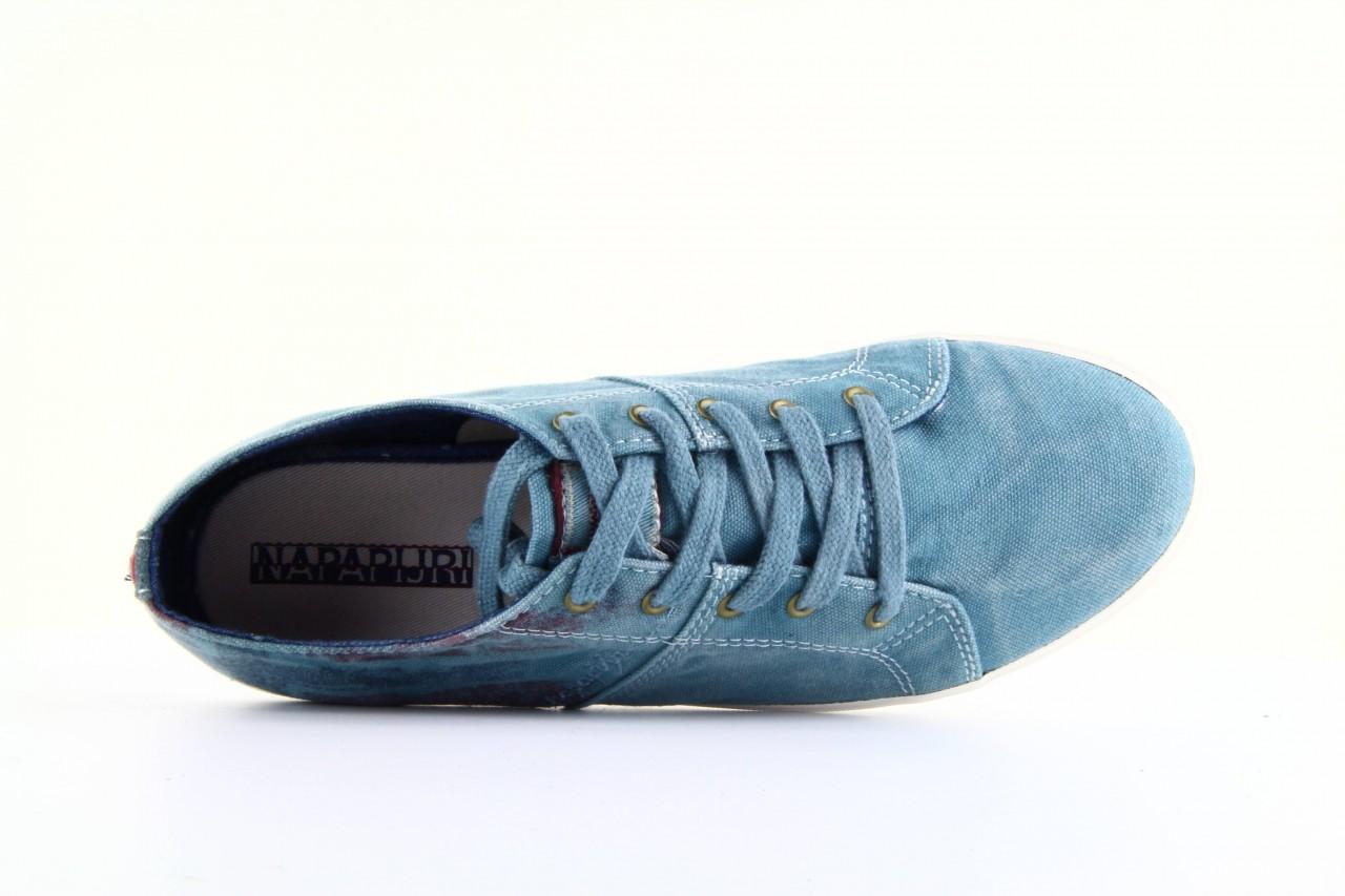 Trampki napapijri 08738149 blue grey, niebieski, materiał 8