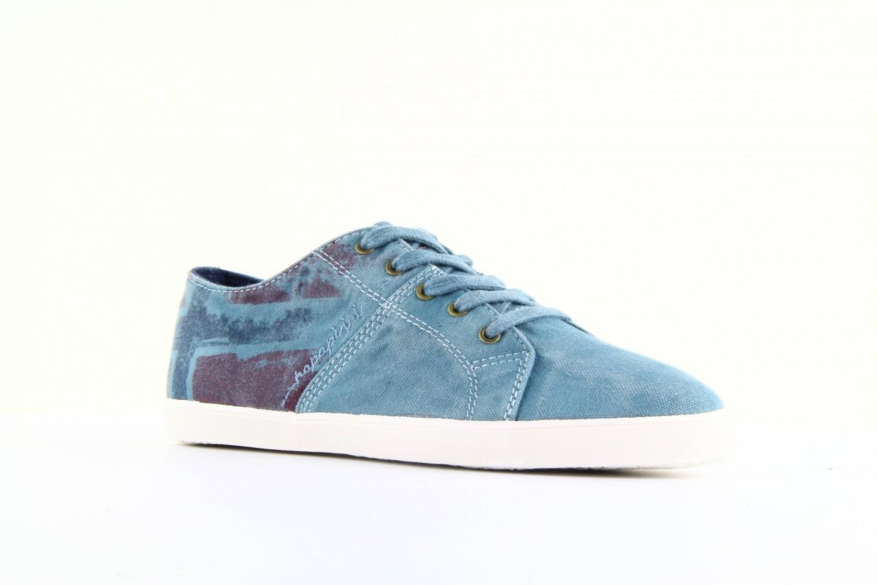 Trampki napapijri 08738149 blue grey, niebieski, materiał 7
