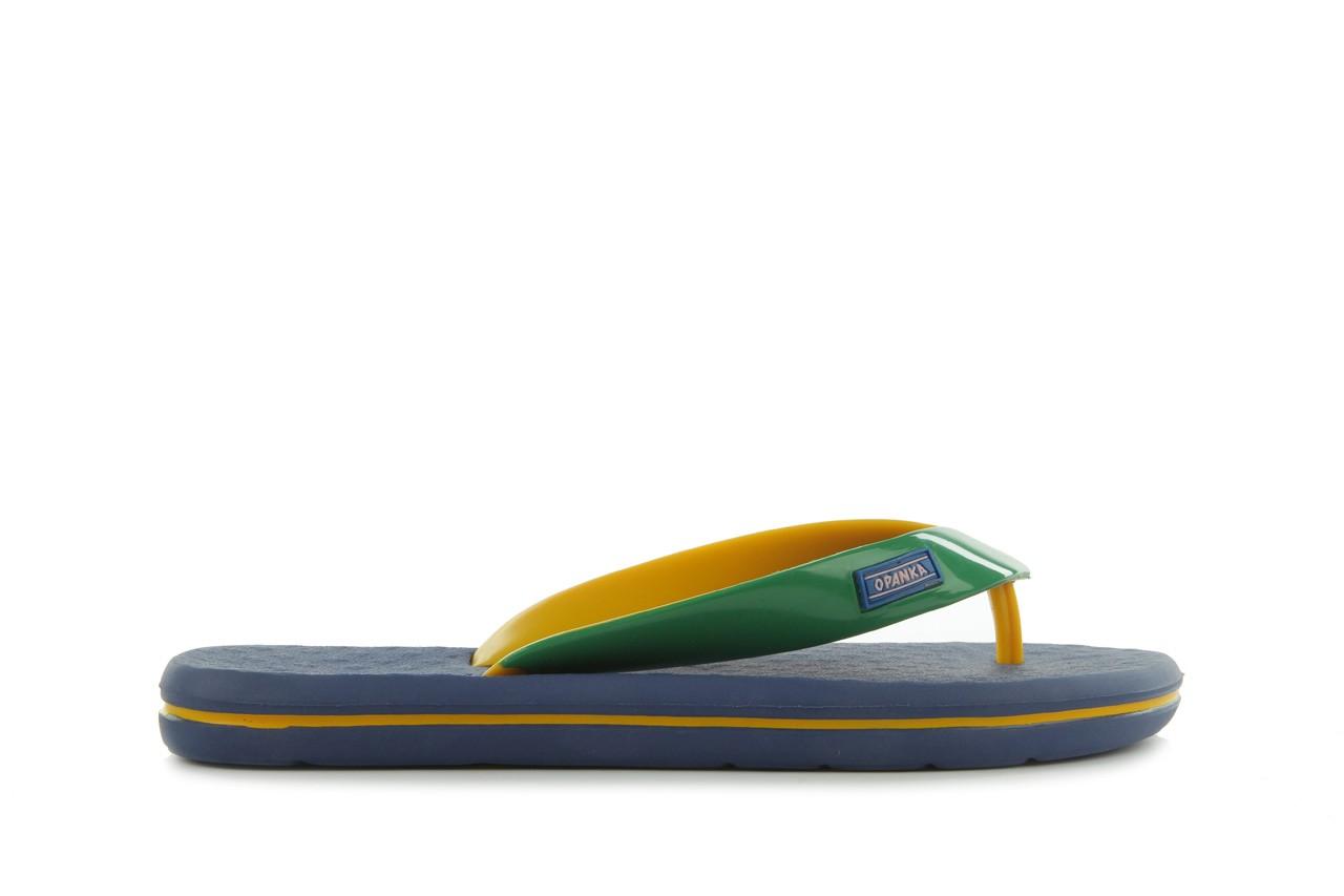 Klapki jatoba 015 yellow w/navy, żółty/niebieski, guma - azaleia - nasze marki 6