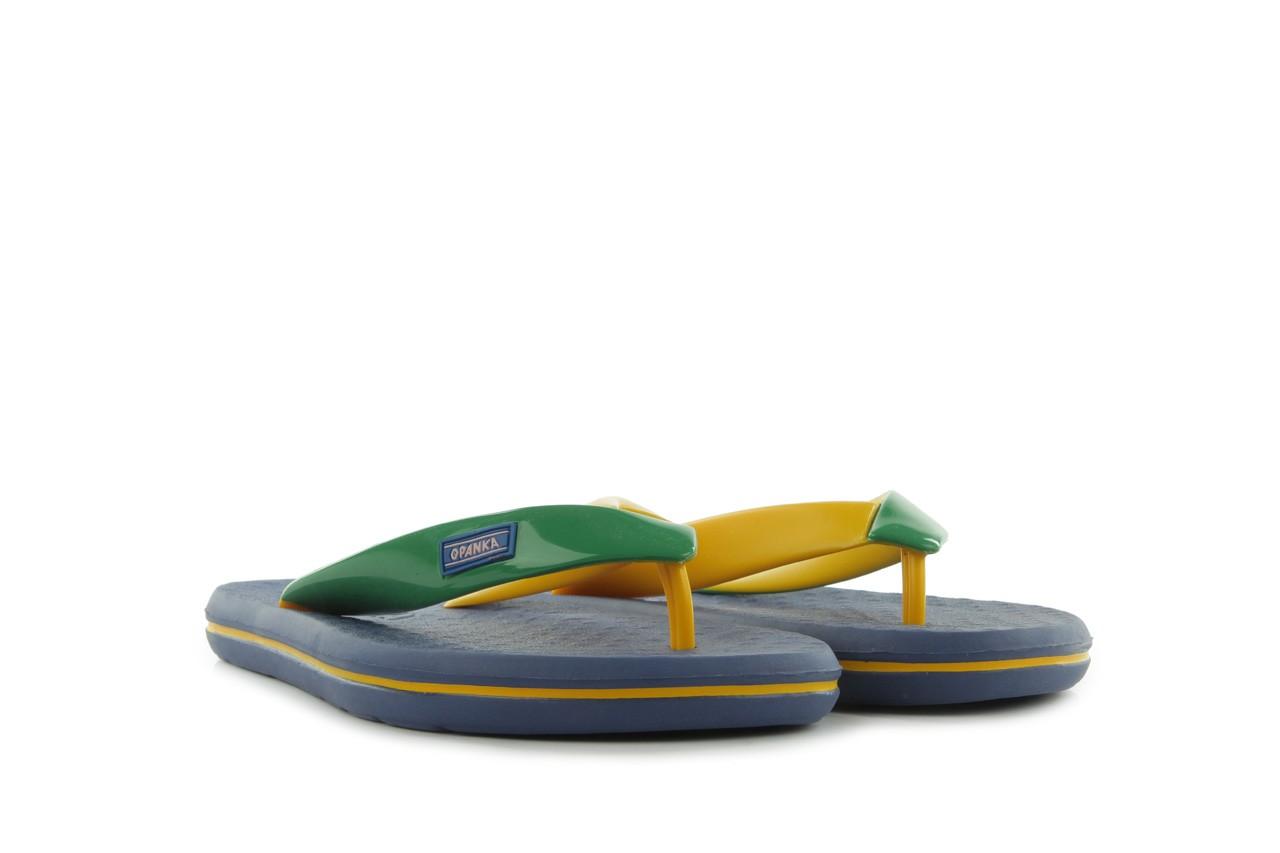 Klapki jatoba 015 yellow w/navy, żółty/niebieski, guma - azaleia - nasze marki 7
