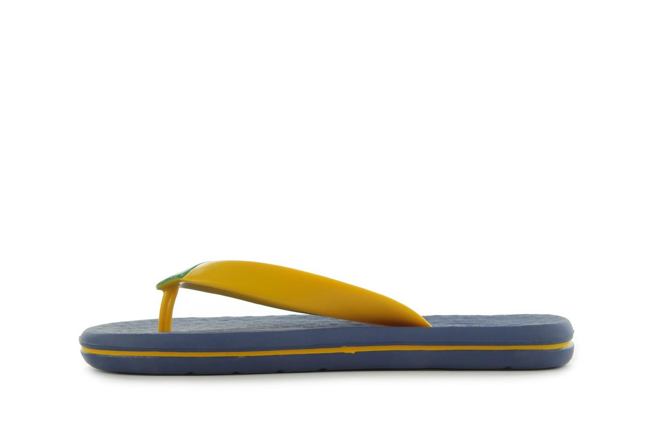 Klapki jatoba 015 yellow w/navy, żółty/niebieski, guma - azaleia - nasze marki 8