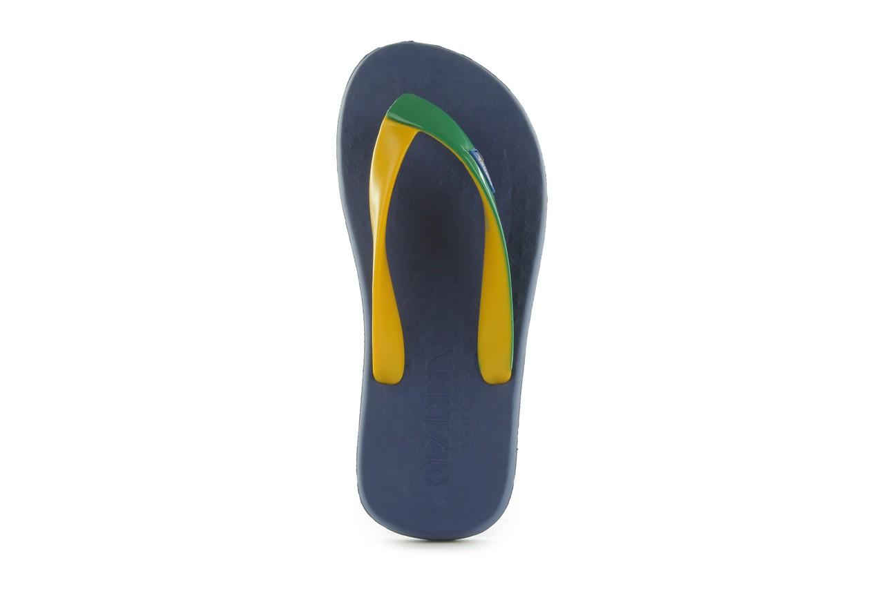 Klapki jatoba 015 yellow w/navy, żółty/niebieski, guma - azaleia - nasze marki 9