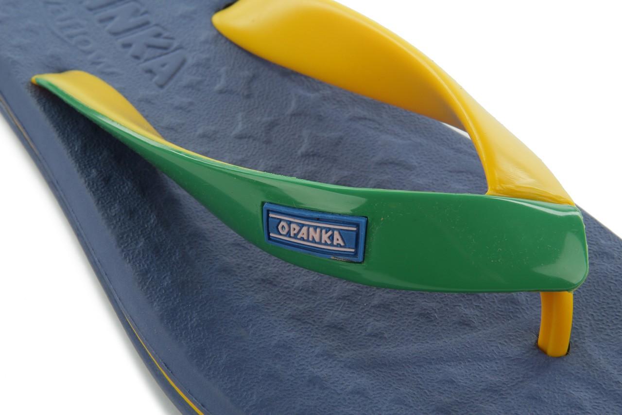 Klapki jatoba 015 yellow w/navy, żółty/niebieski, guma - azaleia - nasze marki 11
