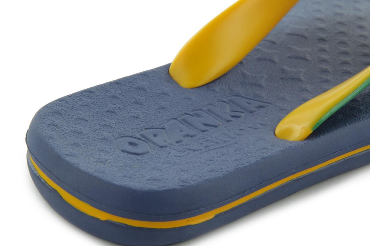 Klapki jatoba 015 yellow w/navy, żółty/niebieski, guma - azaleia - nasze marki 10