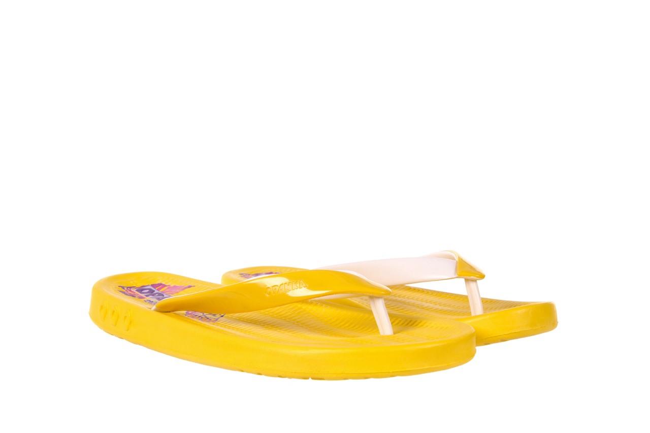 Klapki kiss 026 yellow or neon, żółty, guma - azaleia - nasze marki 6