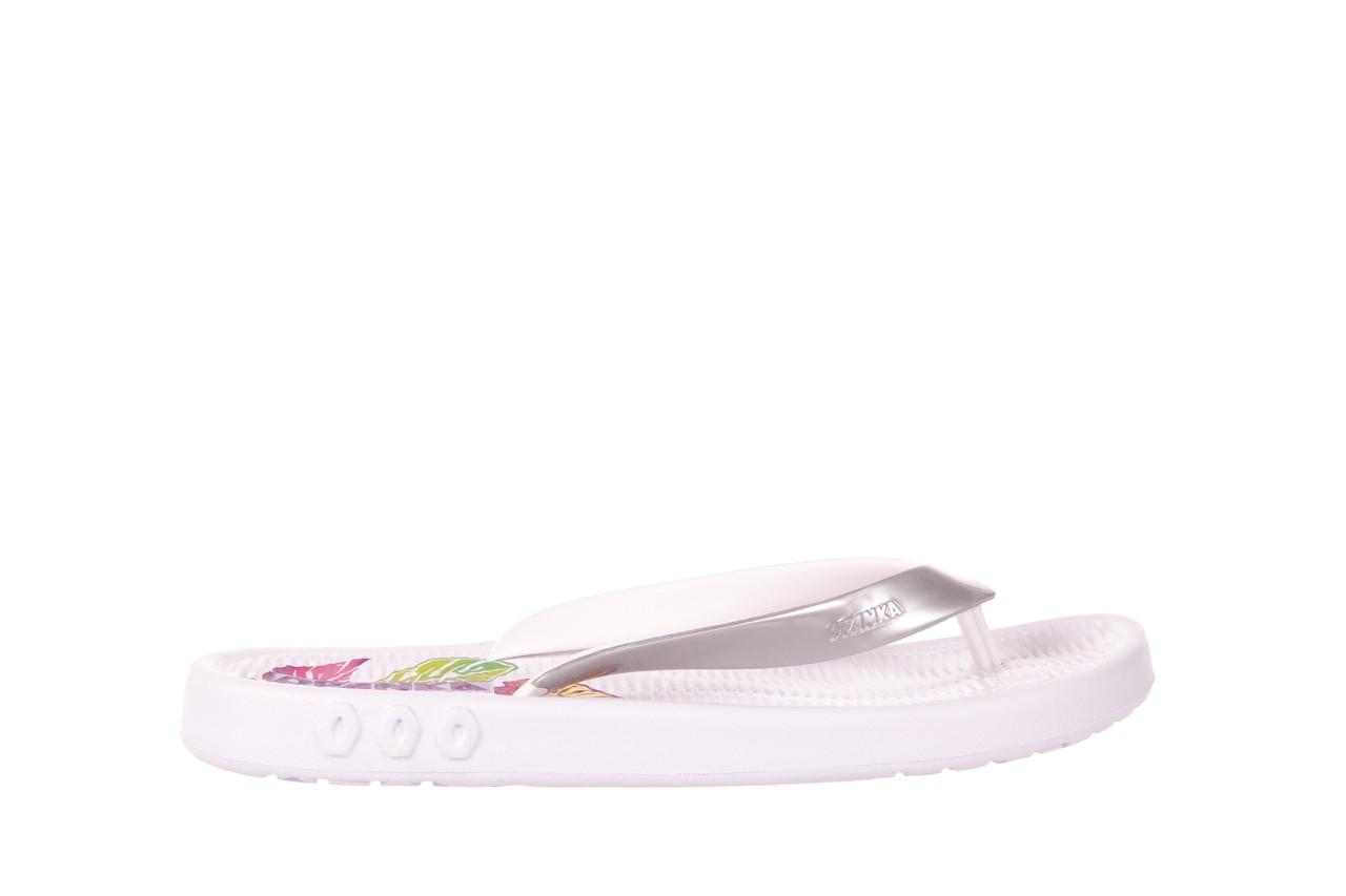 Klapki kiss 026 white, biały/ srebro, guma - azaleia - nasze marki 5