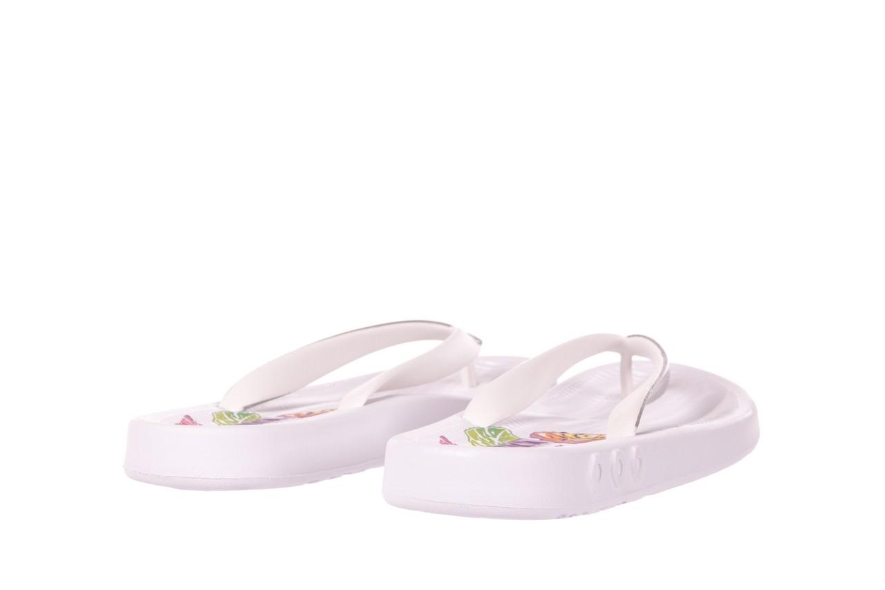 Klapki kiss 026 white, biały/ srebro, guma - azaleia - nasze marki 8