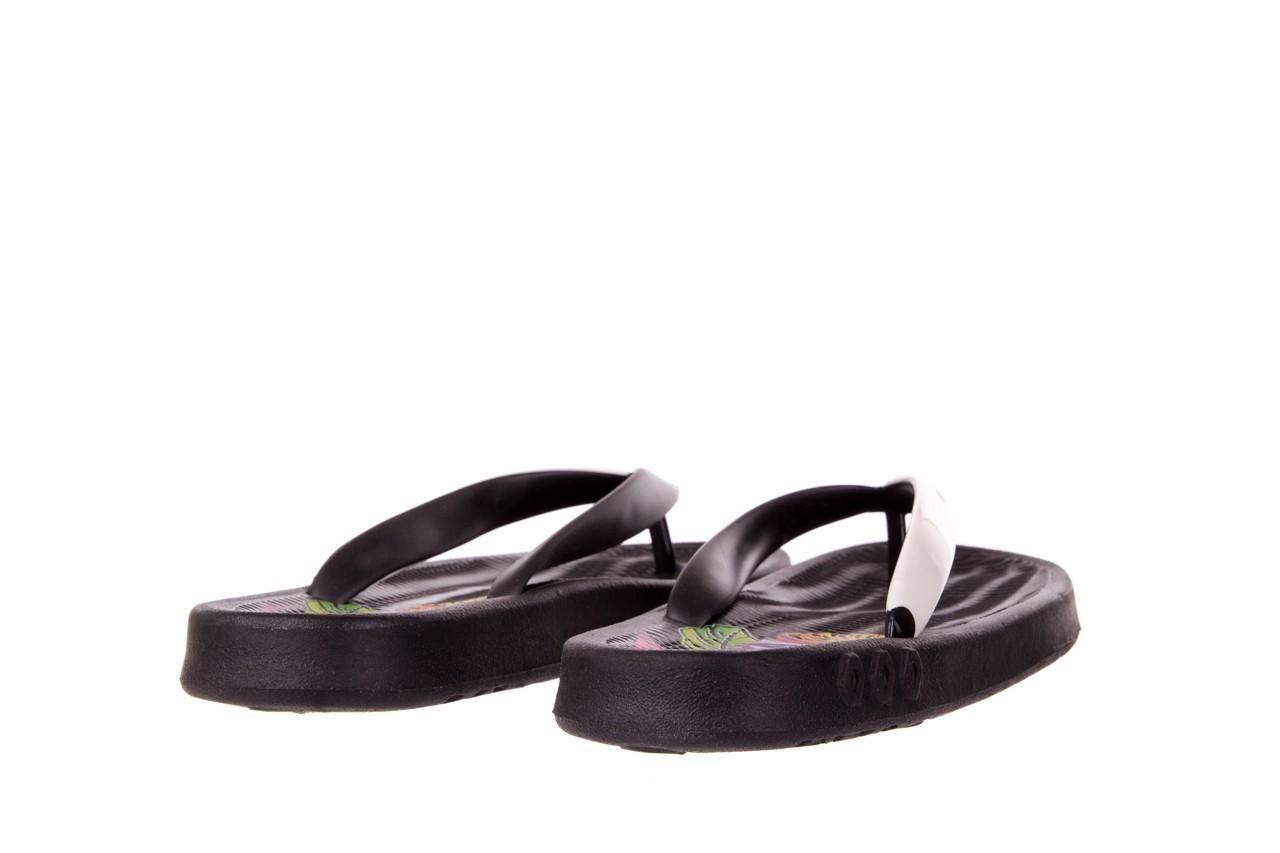 Klapki kiss 026 black neon, czarny/ biały, guma - azaleia - nasze marki 8