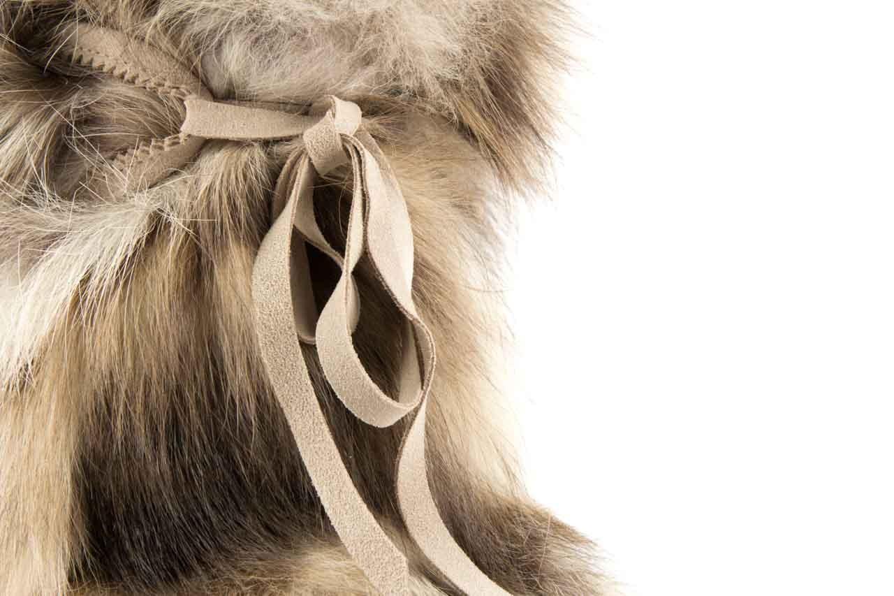 Śniegowce oscar baffy-short iceburg, beż, futro naturalne 9